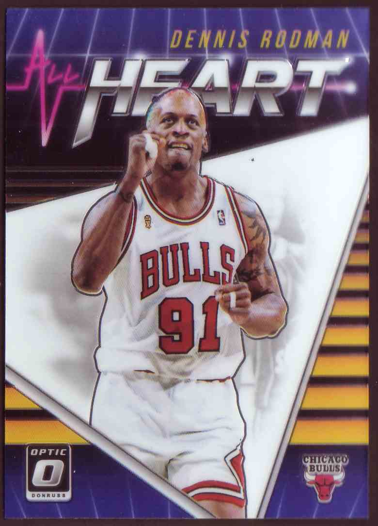 2018-19 Donruss Optic All Hearts Dennis Rodman #14 card front image