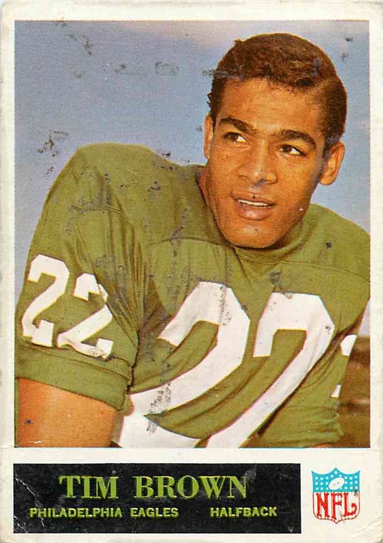 1965 Philadelphia Tim Brown #130 card front image