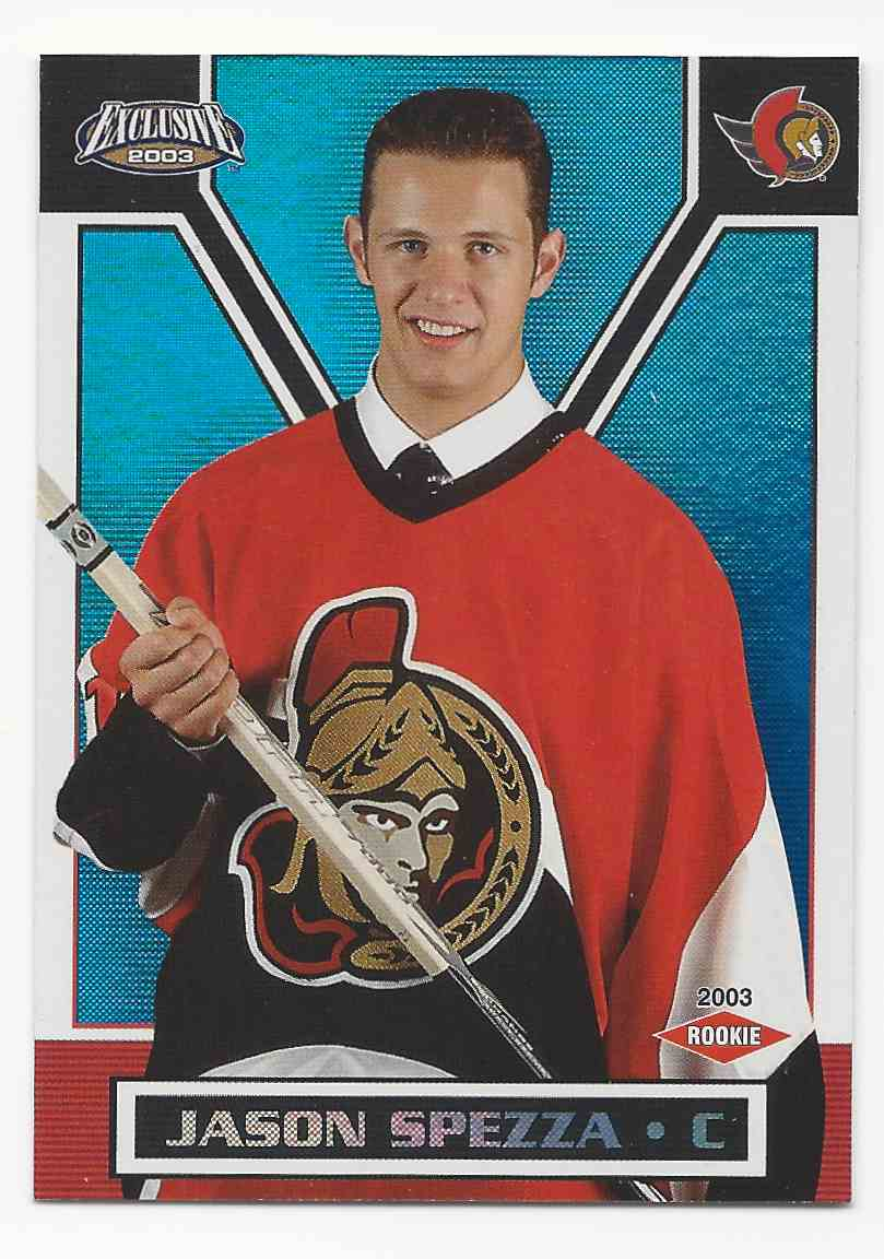 2002-03 Pacific Exclusive Blue Jason Spezza #179 card front image