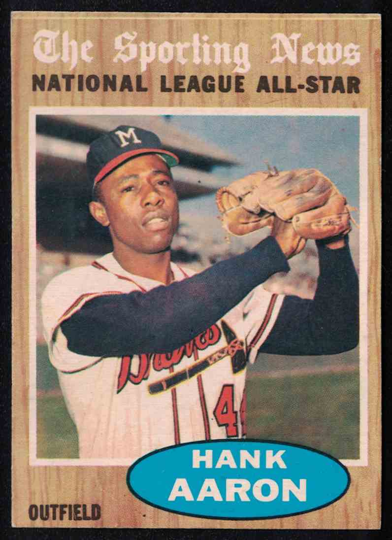 1962 Topps Hank Aaron All-Star VG #394 card front image