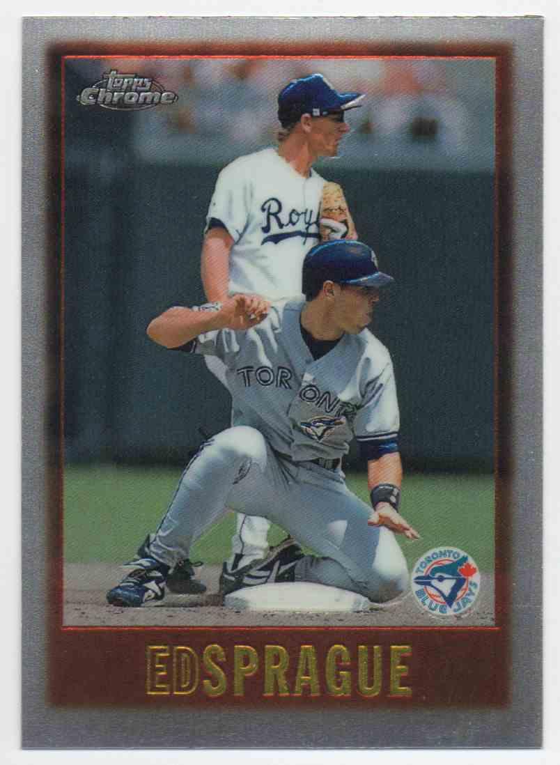 1997 Topps Chrome Ed Sprague #116 card front image