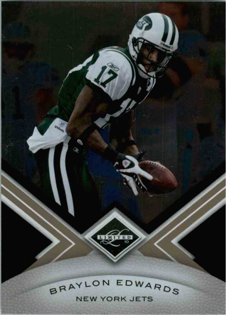 2010 Leaf Limited Braylon Edwards #67 card front image