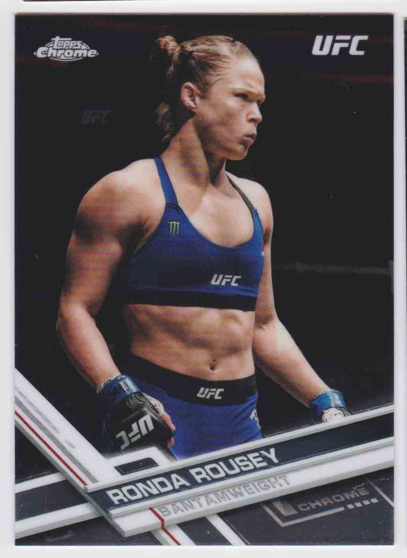 2017 Topps Chrome UFC Rhonda Rousey #98 card front image