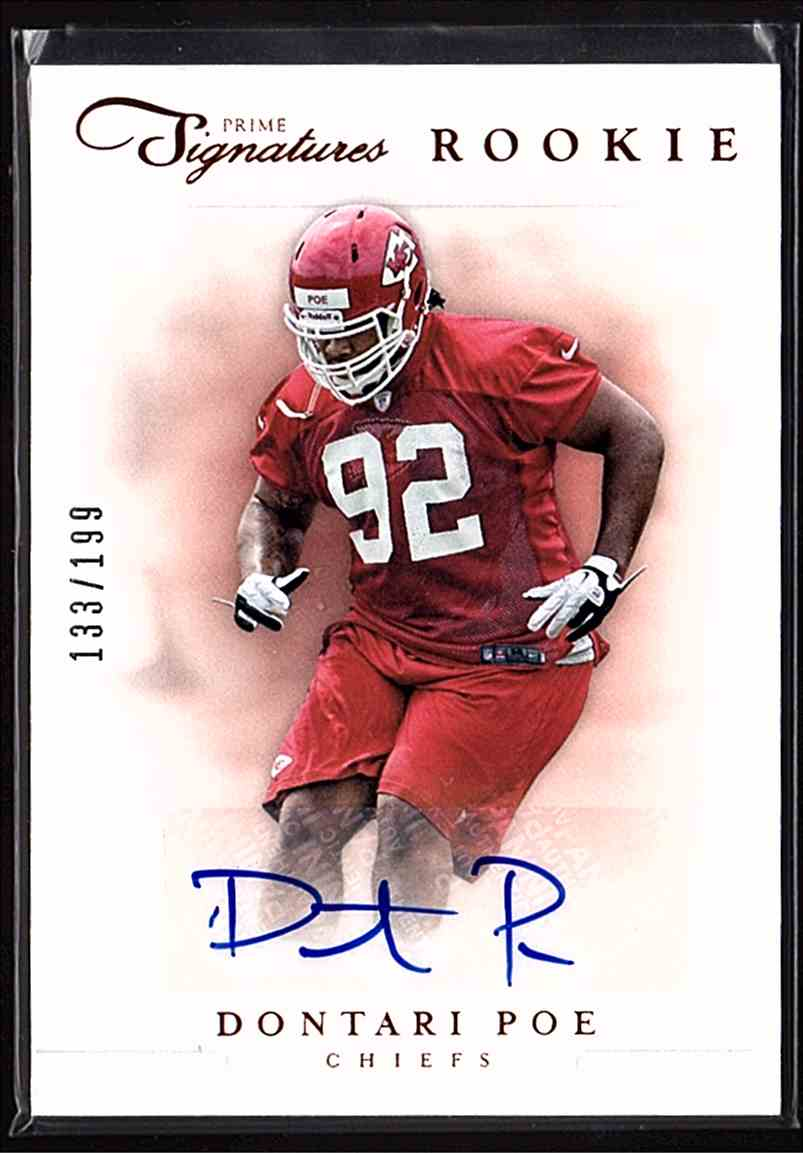 2012 Prime Signatures190 Dontari Poe #190 card front image