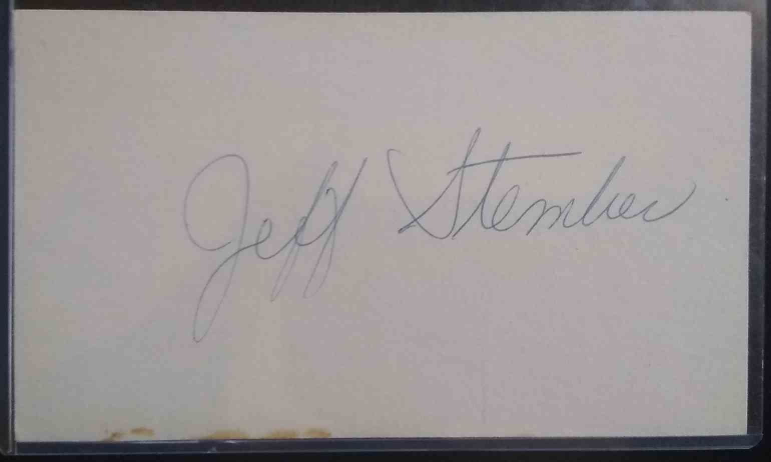 1980 3X5 Jeff Stember card front image