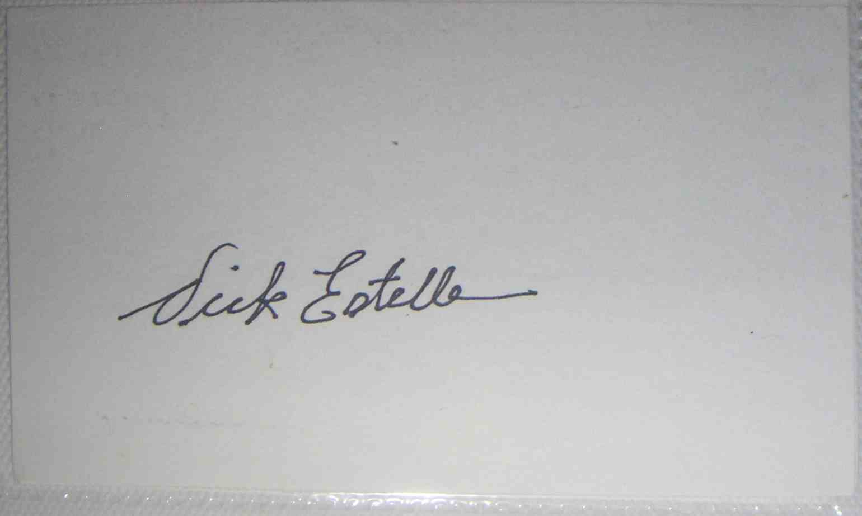 1964 3X5 Dick Estelle card front image