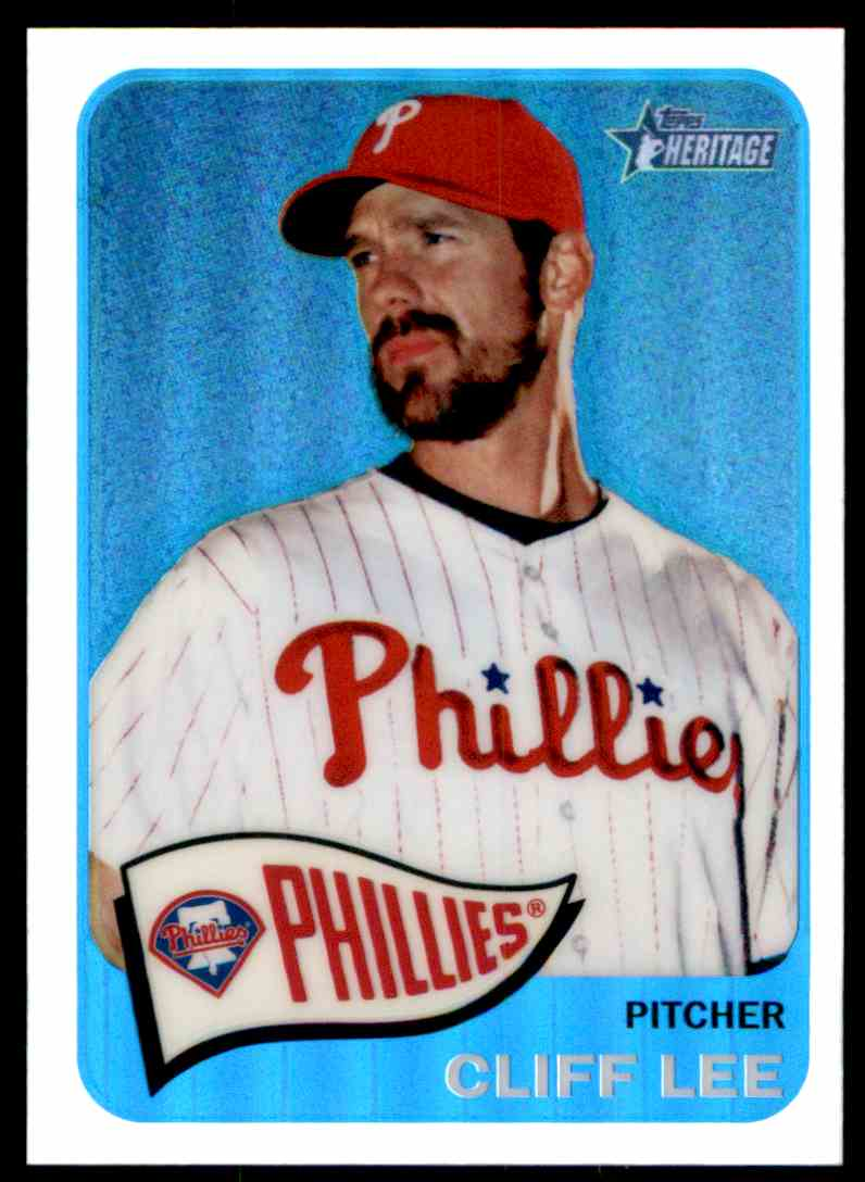 2014 Topps Heritage Chrome Refractors Cliff Lee #THC20 card front image