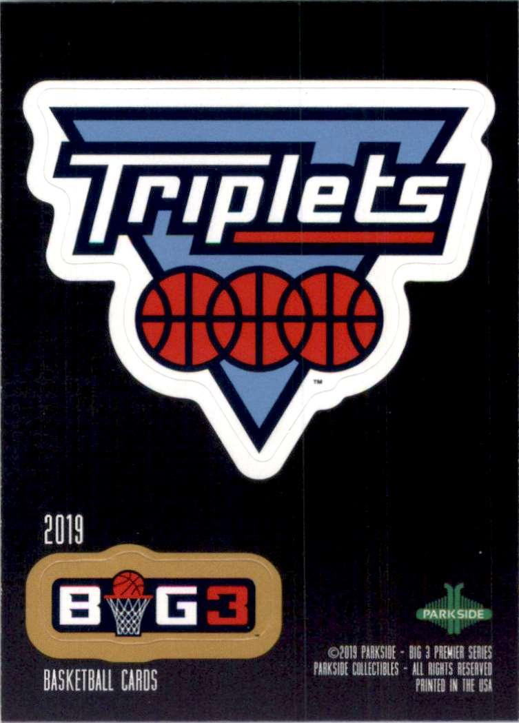 2019-20 Parkside Big3 Stickers Triplets Logo #13 card front image