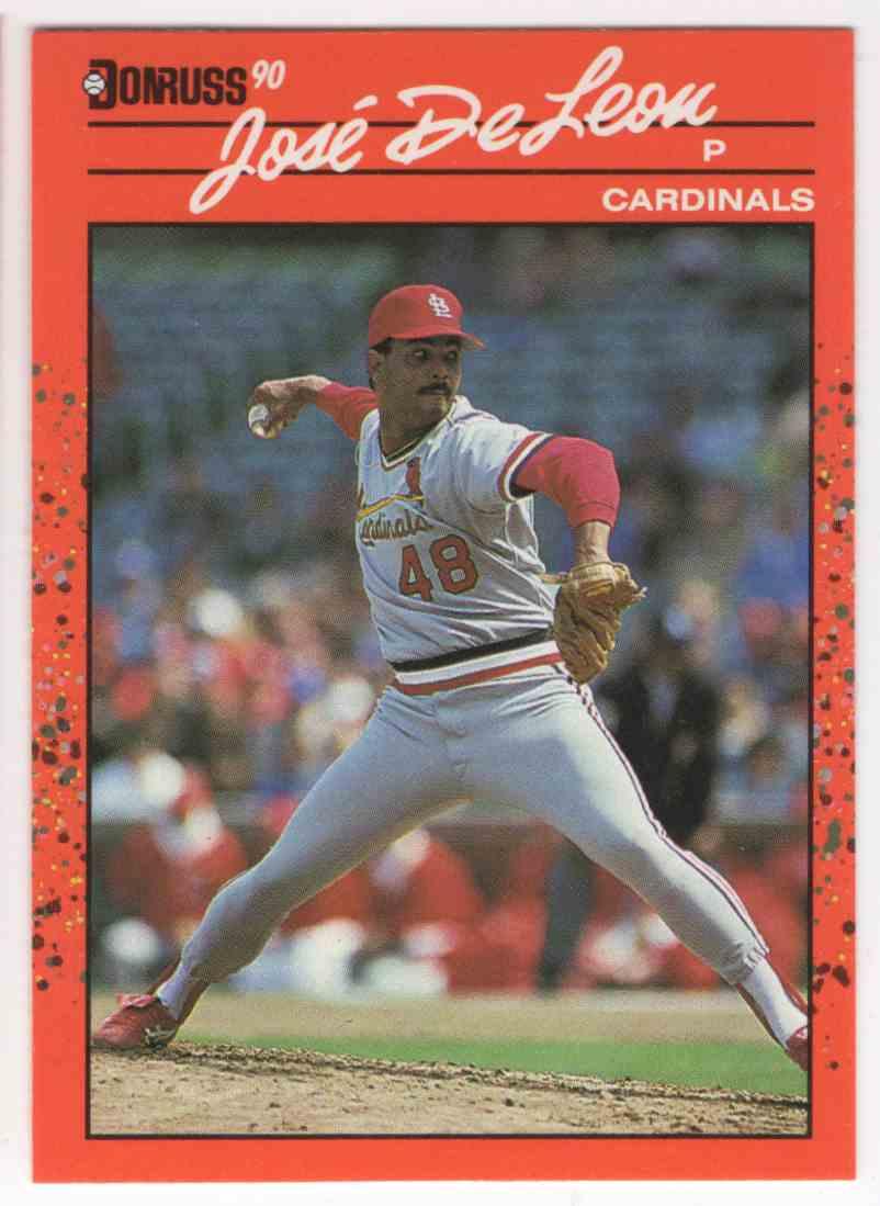 1990 Donruss Jose DeLeon #536 card front image