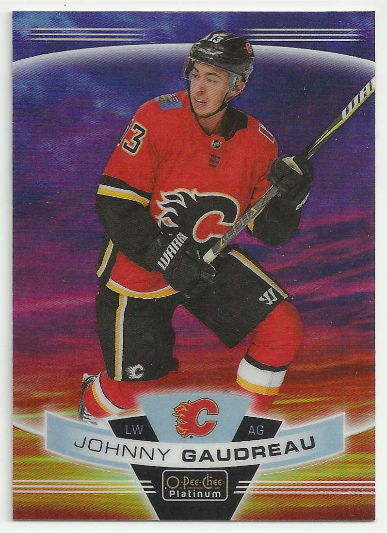 2019-20 O-Pee-Chee Platinum Sunset Johnny Gaudreau #135 card front image