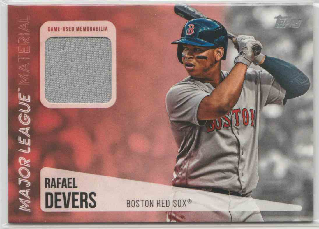 2019 Topps Major League Materials Rafael Devers #MLM-RD card front image
