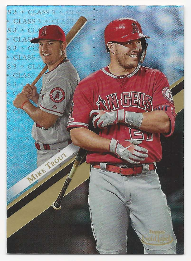 2019 Topps Gold Label  Class 3 Mike Trout #1 card front image