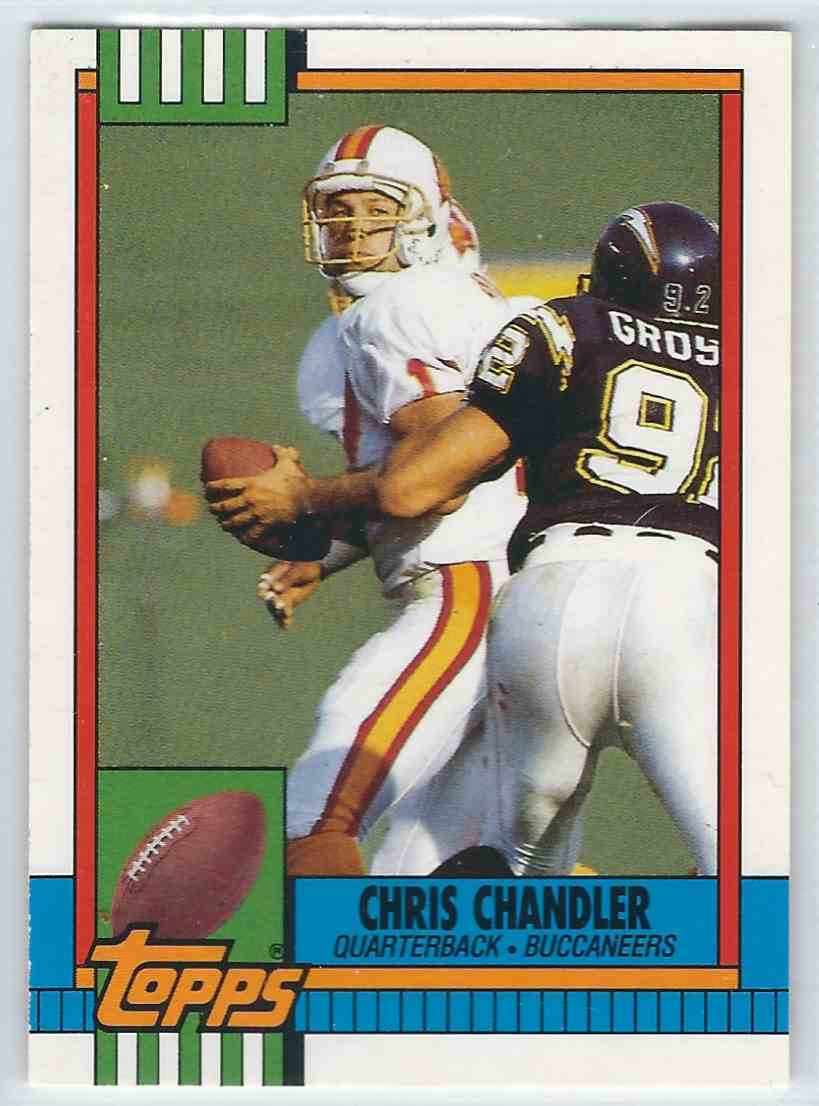 1990 Topps Traded Chris Chandler #130T card front image