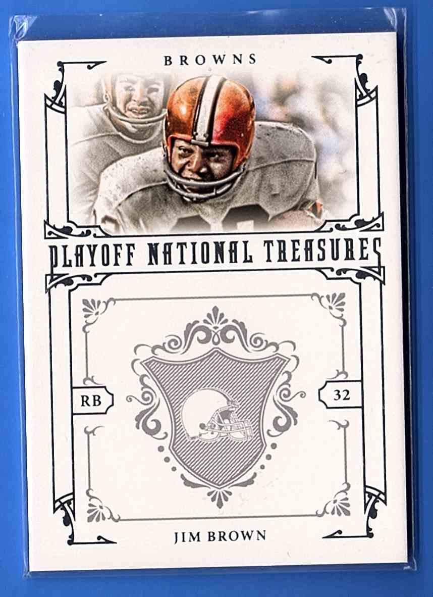 2008 Playoff National Treasures Jim Brown #79 card front image