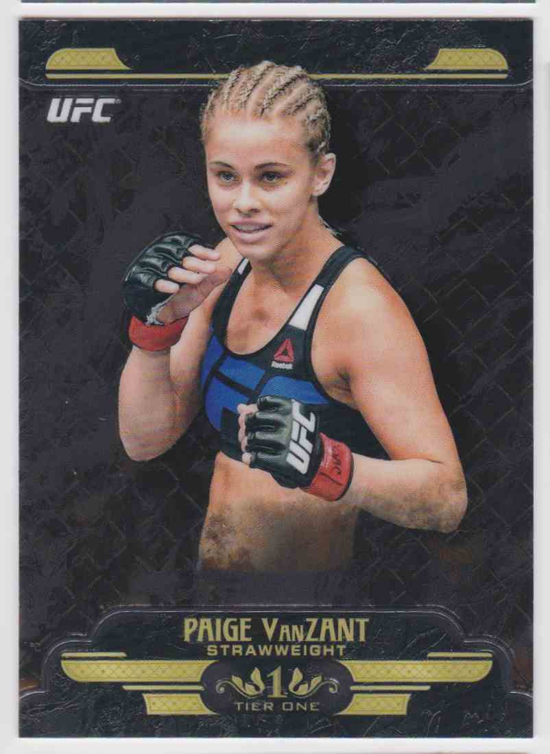 2017 Topps UFC Tier One Paige Vanzant #UT-PV card front image