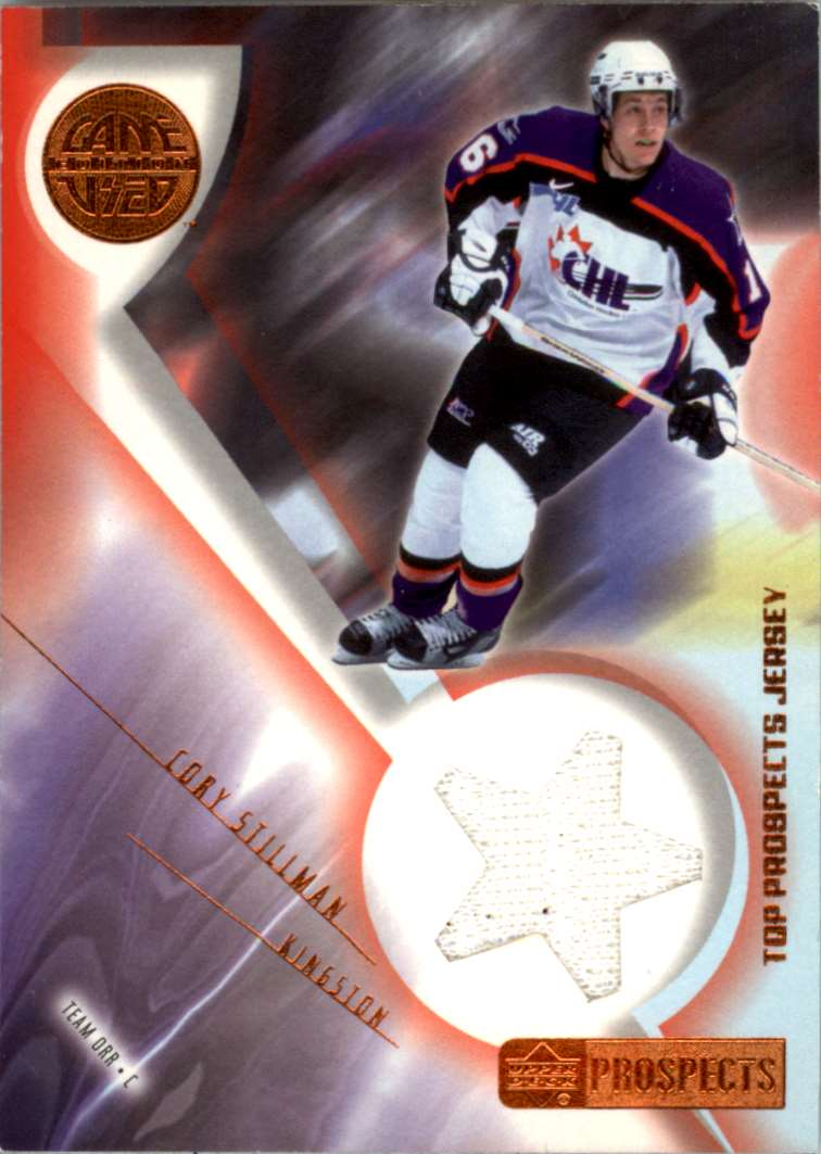 2001-02 UD CHL Prospects CHL Cory Stillman #J-CS card front image