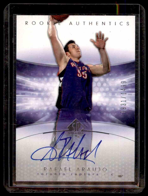 2004-05 SP Authentic Rafael Araujo #180 card front image