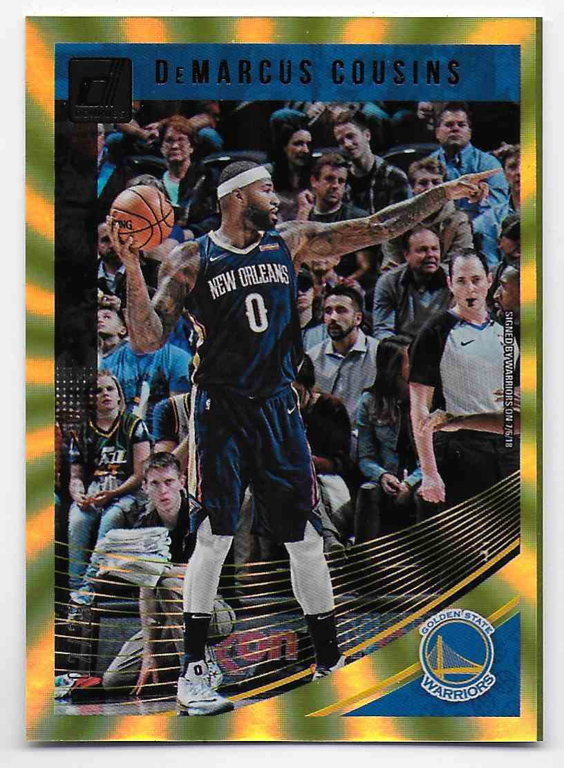 2018-19 Donruss Holo Yellow Laser DeMarcus Cousins #42 card front image