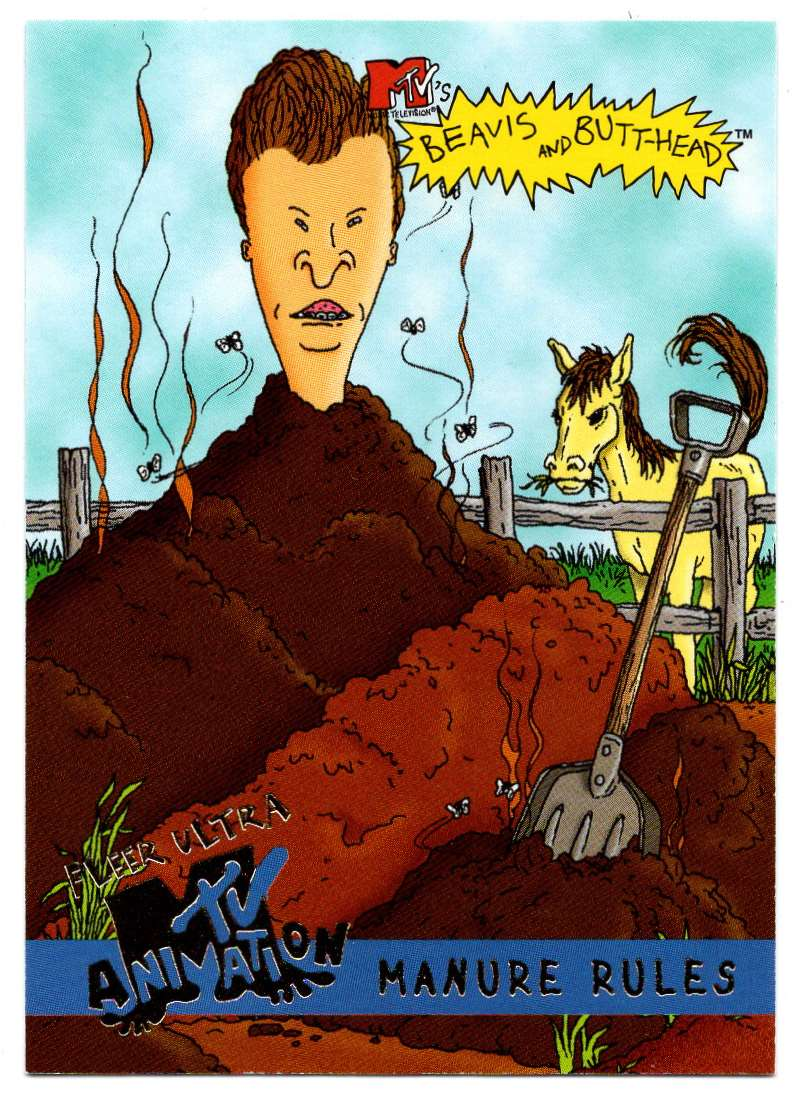 1995 Ultra Mtv Animation Manure Rules #58 card front image