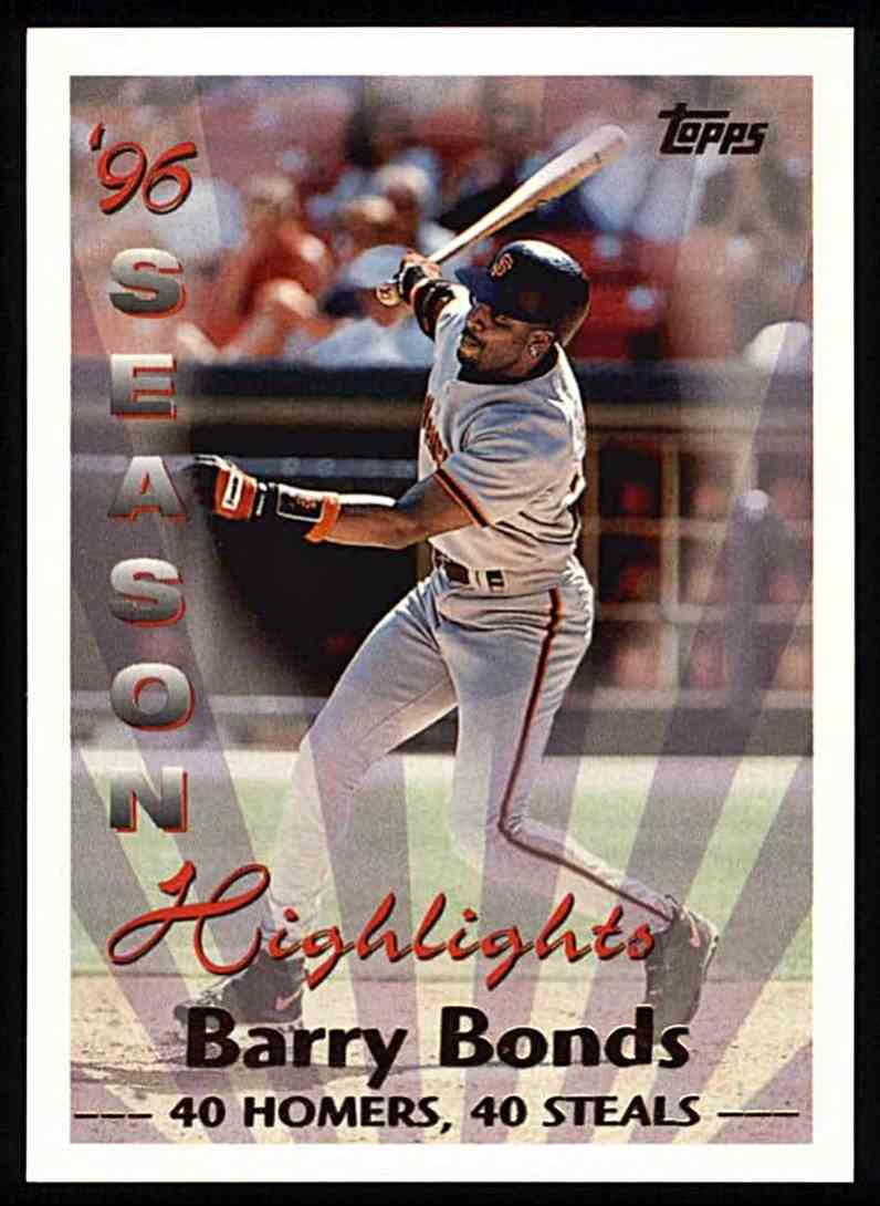 1997 Topps Barry Bonds - 96' Season Highlights #465 card front image