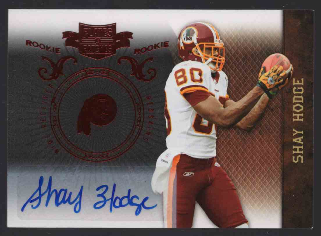 2010 Panini Plates And Patches Shay Hodge #190 card front image