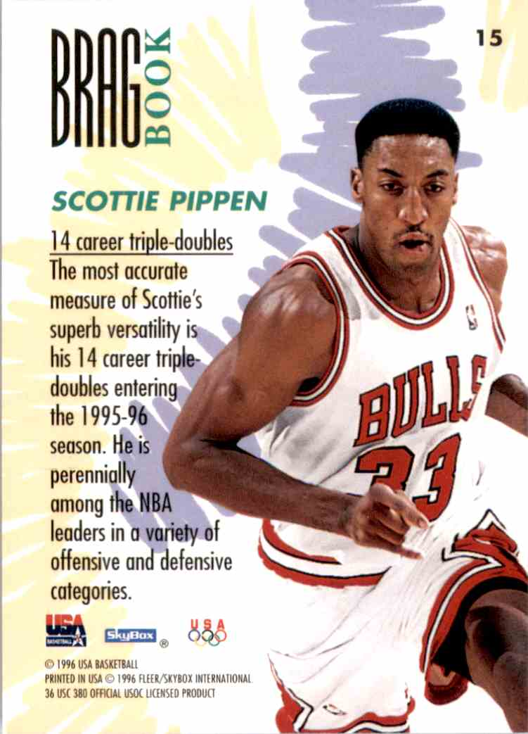 1996-97 SkyBox USA Scottie Pippen #15 card back image