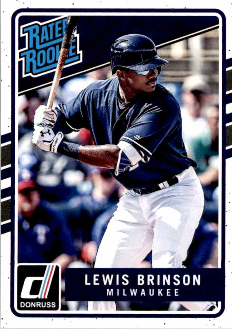 2017 Panini Chronicles Lewis Brinson #206 card front image