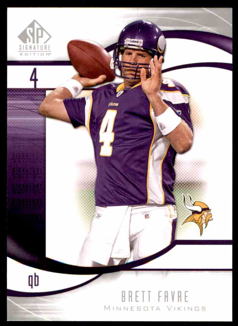 2009 SP Signature Brett Favre Vikings #104 card front image
