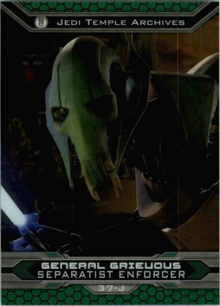 2015 Topps Chrome Star Wars Jedi Temple Archives General Grievous #37-J card front image