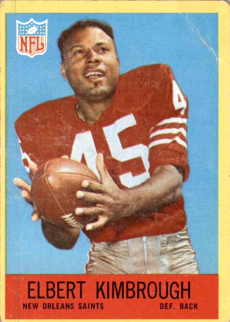 1967 Philadelphia Elbert Kimbrough #124 card front image