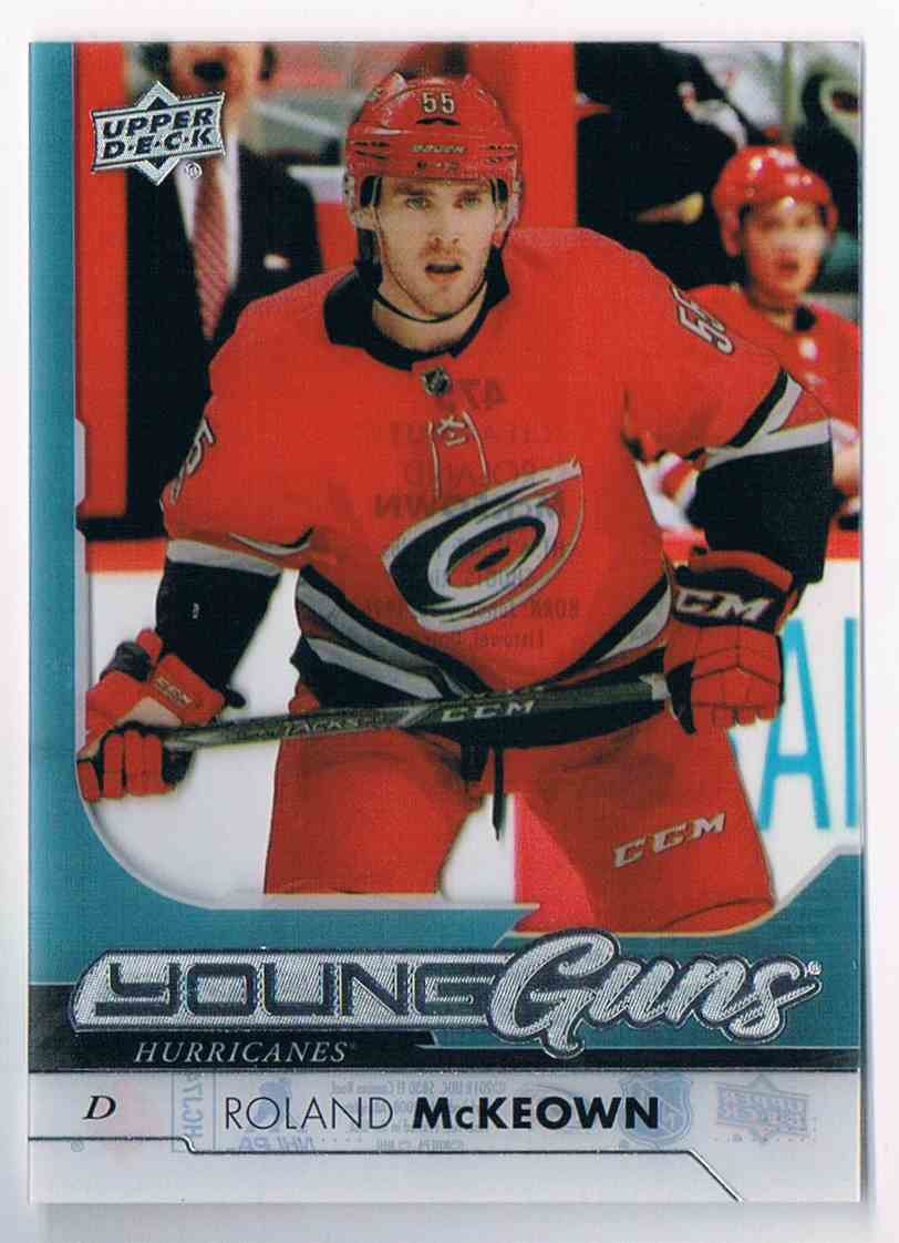 2017-18 Upper Deck Young Guns Clear Cut Roland McKeown #475 card front image