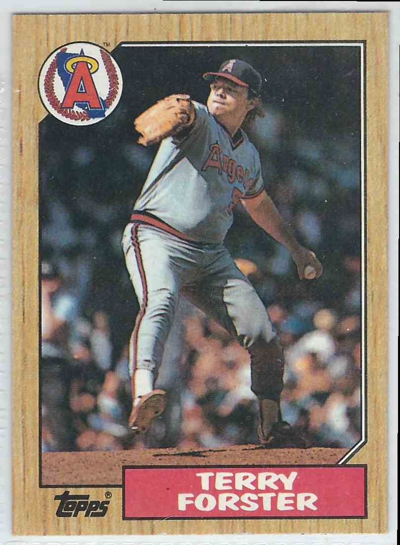 1987 Topps Topps Terry Forster #652 card front image