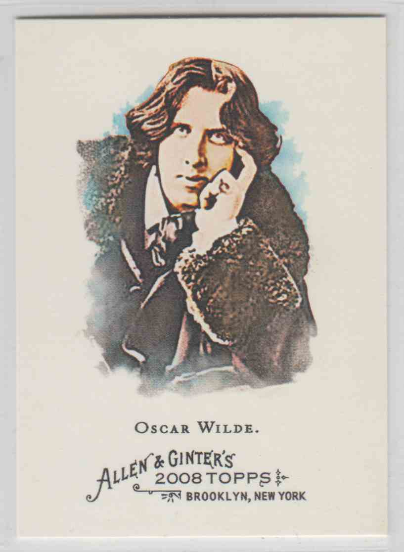 2008 Topps Allen And Ginter Oscar Wilde #276 card front image