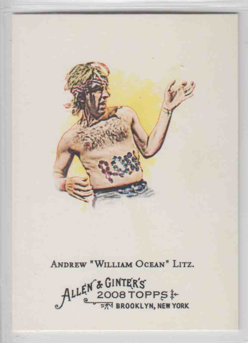 2008 Topps Allen And Ginter Andrew William Ocean Litz #283 card front image