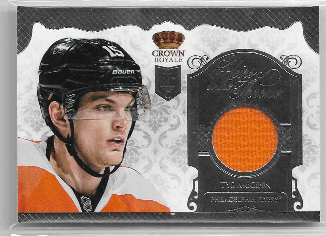2013-14 Panini Crown Royale Heirs To The Throne Materials Tye McGinn #HT-TMG card front image