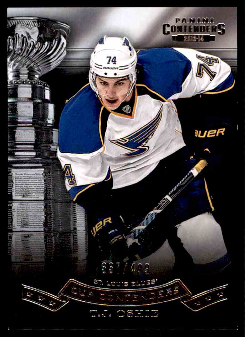 2013-14 Panini Stanley Cup Conterders T.J. Oshie #CC-9 card front image