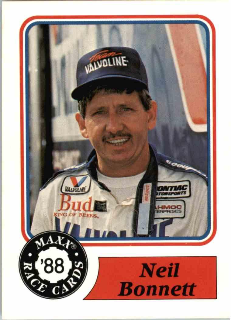 1988 Maxx Racing Neil Bonnett #20 card front image