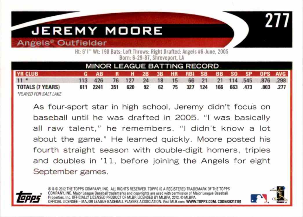 2012 Topps Jeremy Moore #277 on Kronozio