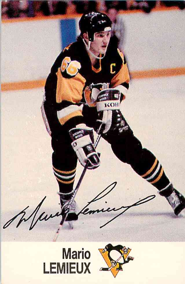1988-89 Esso Mario Lemieux #NNO card front image