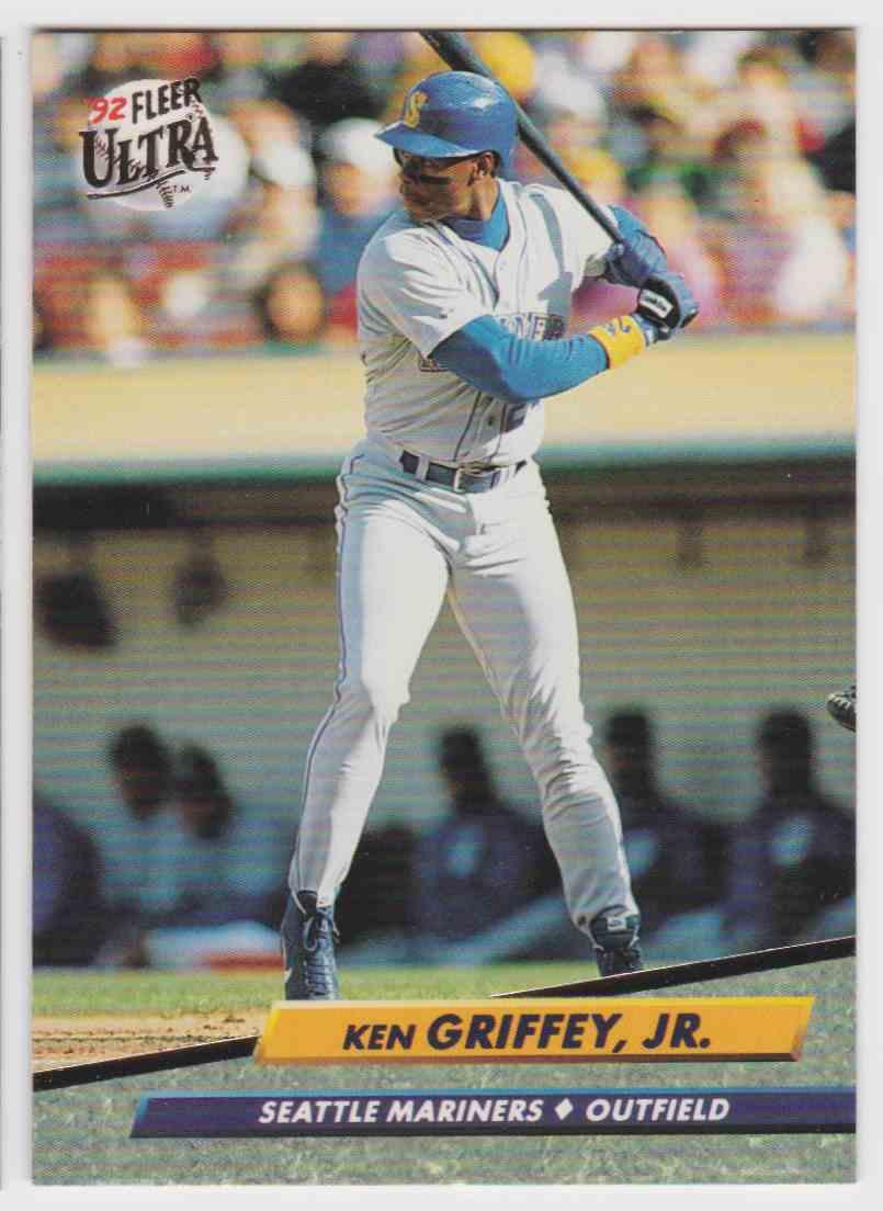3a21c80f9e 1992 Fleer Ultra Ken Griffey JR #123 card front image
