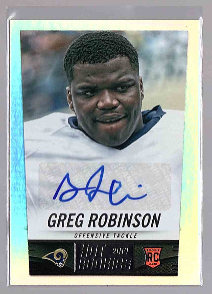2014 Panini Hot Rookies Rookie Signatures Greg Robinson #370 card front image