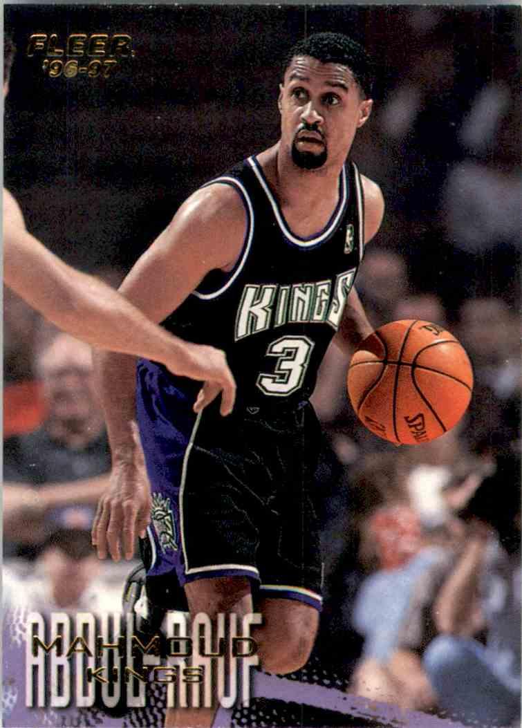 1996-97 Fleer Mahmoud Abdul-Rauf #245 card front image