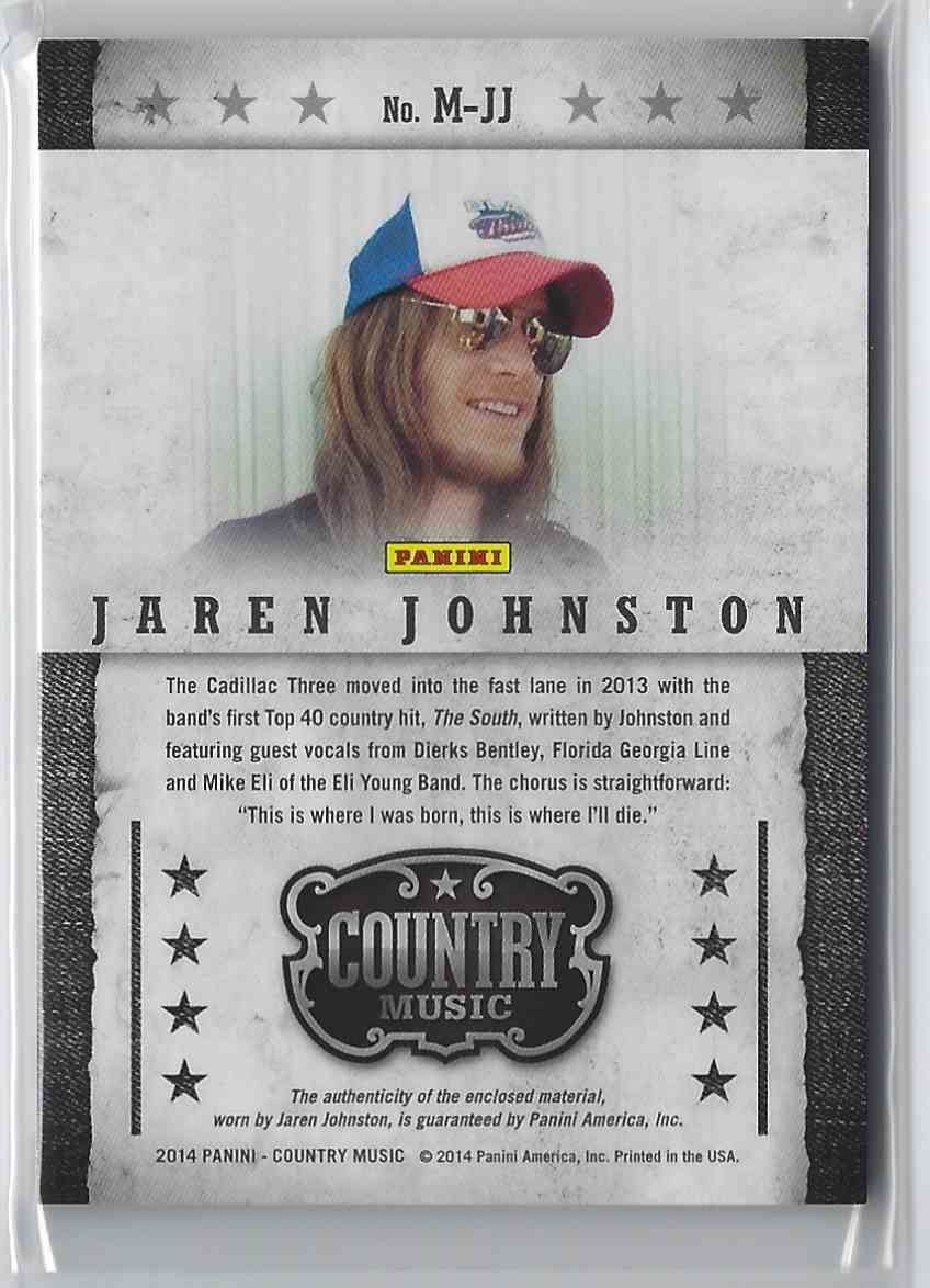2015 Country Music Musician Materials Green Jaren Johnston #M-JJ card back image