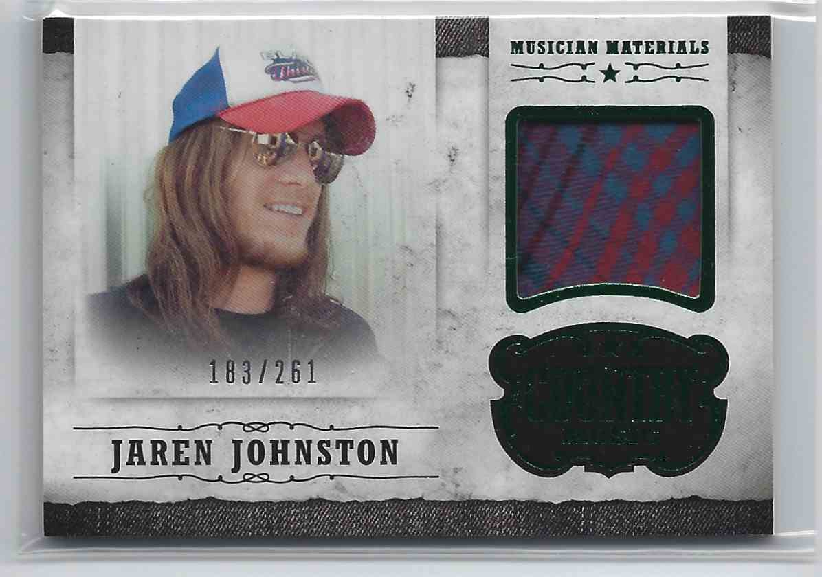 2015 Country Music Musician Materials Green Jaren Johnston #M-JJ card front image