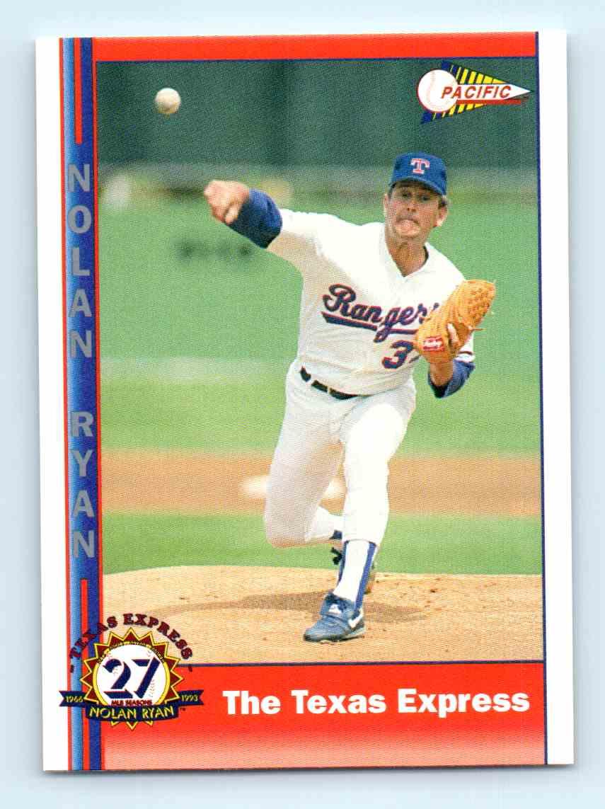 1991 Pacific Nolan Ryan Express The Texas Express 249 On