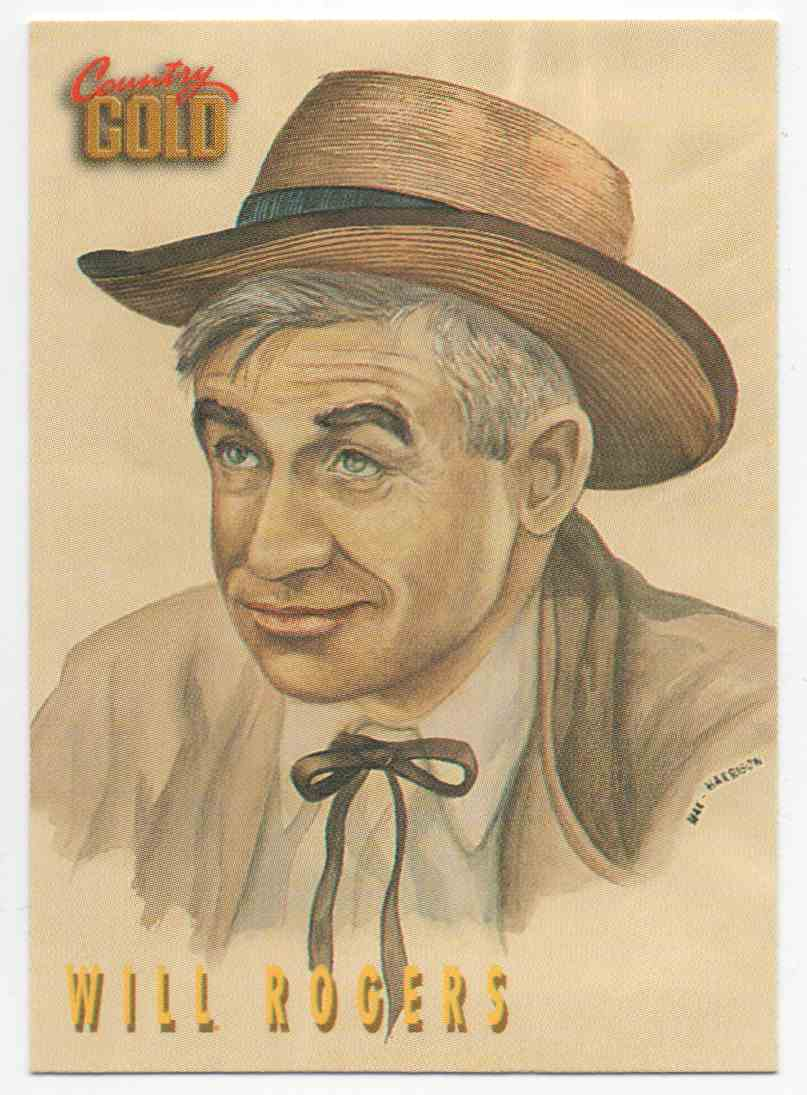 1993 Country Gold Will Rogers #148 card front image