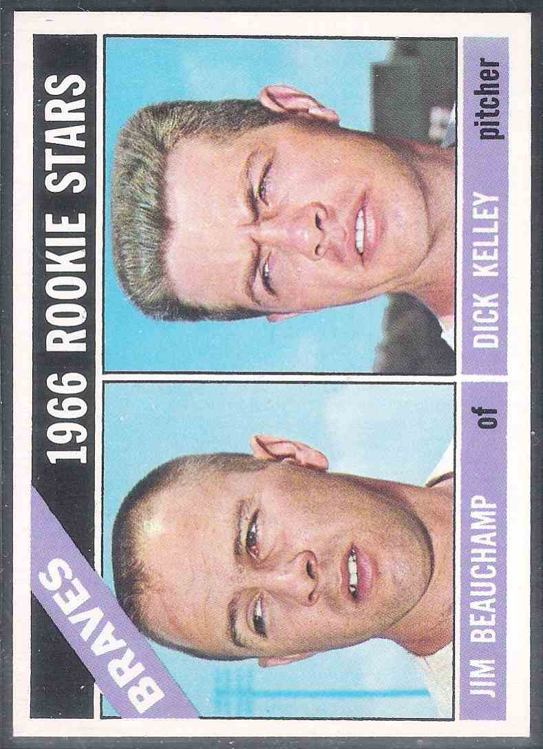 1966 Topps Jim Beauchamp Dick Kelley Nm+ #84 card front image
