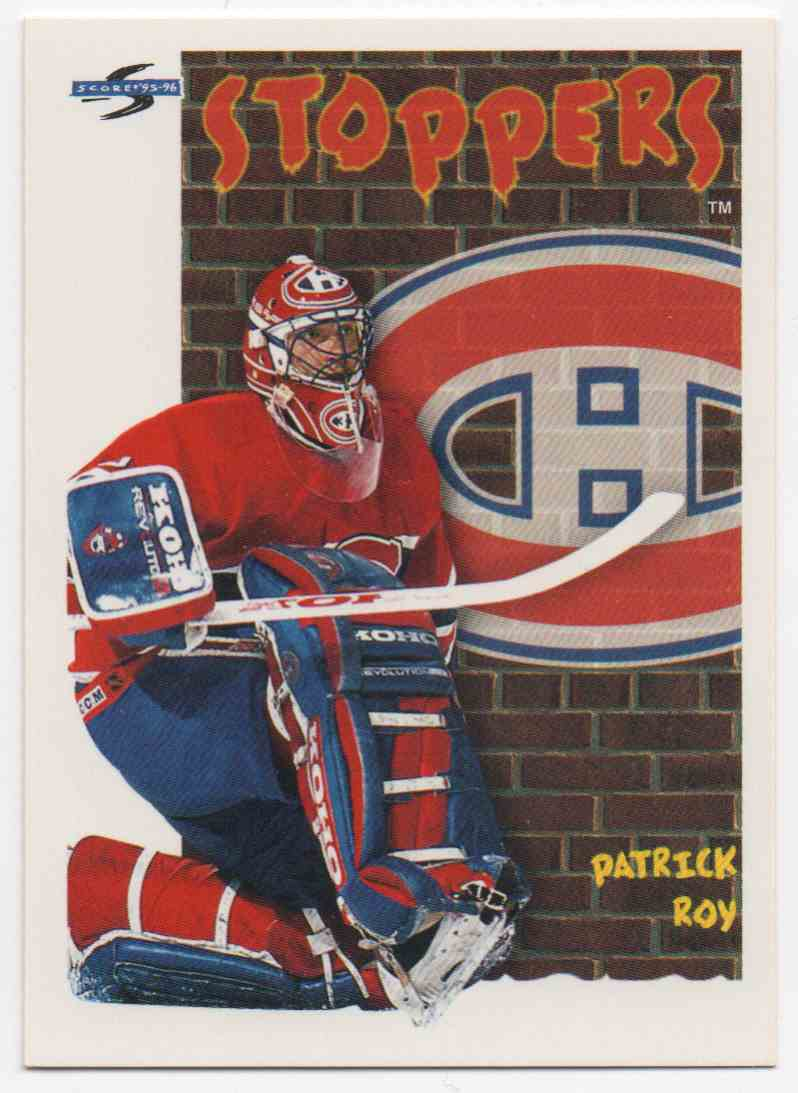 1995-96 Score Patrick Roy #324 card front image