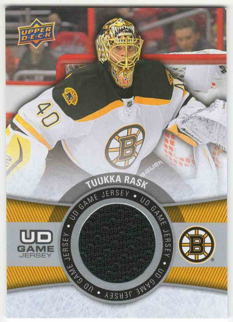 free shipping 3d899 fcedd 2015-16 Upper Deck Game Jersey Tuukka Rask #GJ-TR on ...