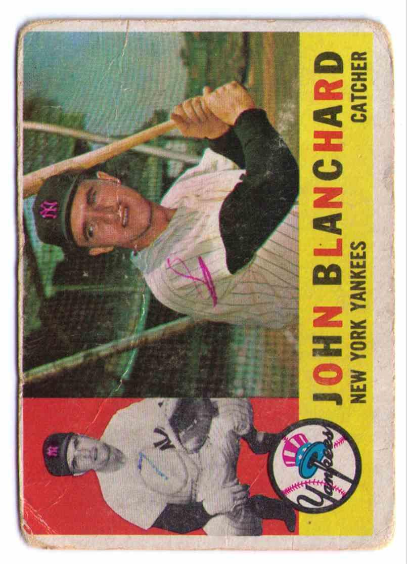 1960 Topps John Blanchard #283 card front image